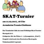 Einladung Skatturnier