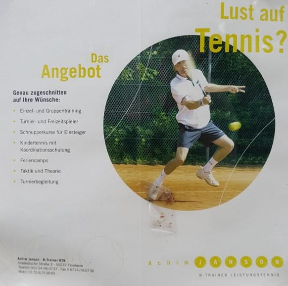 Lust auf Tennis und Training